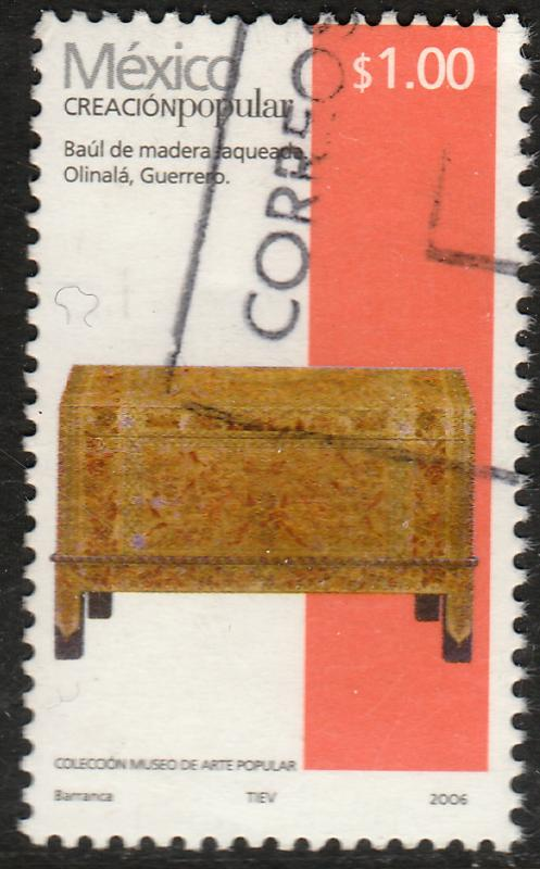 MEXICO 2489a, $1P HANDCRAFTS 2006 ISSUE. USED. F-VF. (1510)