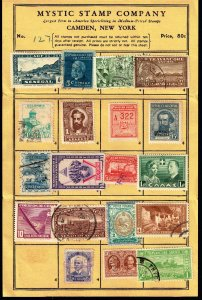 WORLDWIDE STAMP SELLING PAGE COLLECTION LOT  #S3