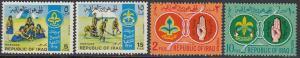 Iraq 457-60 MNH - Scouting Movement (Small Faults)