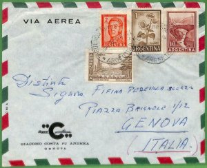 98812 - ARGENTINA - POSTAL HISTORY - Airmail COVER to ITALY Sunflowers PETROL