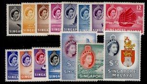SINGAPORE QEII SG38-52, complete set, M MINT. Cat £130.
