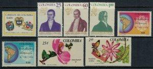 Colombia #762-9*  CV $4.80