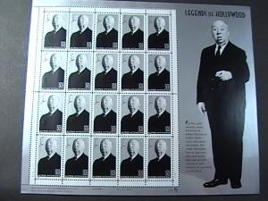 U.S.# 3226-MINT/NEVER HINGED--PANE OF 20-LEGENDS OF HOLLYWOOD-HITCHCOCK-1998
