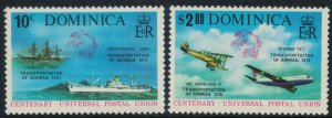 Dominica #418-9a* NH complete set & Souvenir sheet, U.P.U.