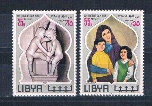 Libya 334-35 MNH set Childrens day 1968 (L0703)