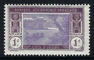 Ivory Coast 42 MOG THIN FAULTS 1061G-1