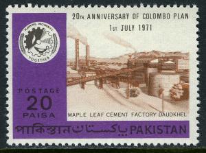 Pakistan 304, MNH. Colombo Plan, 20th anniv. Cement Factory, Daudkhel, 1971