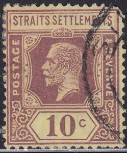 Straights Settlement 191 Hinged Used 1927 King George V Chalk Paper