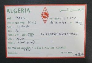 6049 Amateur Radio QSL Card Algeria