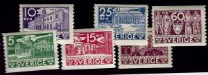 Sweden Vibrant & Attractive Sc #242-47 MNH F-VF...Fill a bargain spot!