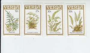 1985 Venda Ferns (4) (Scott 124-27) MNH