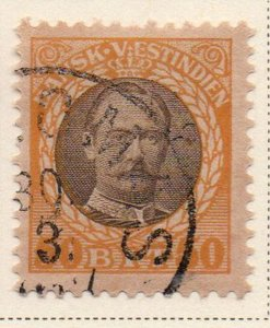Danish West Indies Sc 50 1908 50 bit yellow & gray Frederik VIII stamp used