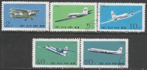 NORTH KOREA 1254-58 VFU AIRPLANES Z4595