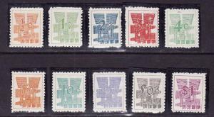 Ryukyu Islands-Sc#44-53-unused NH set-1958-