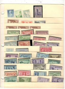 US MINT COLLECTION ON STOCK SHEET,