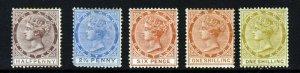 TOBAGO QV 1882-96 A Watermark Crown CA Part Set SG 14, 16, 23, 24 & 25 MINT