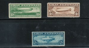 USA #C13 - #C15 Very Fine Mint Original Gum #C13 - #C14 Is Never Hinged