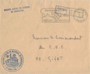 France Military Free Mail 1968 57 Sarrebourg, Moselle Porte des Vosges Illust...