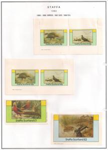 SCOTLAND - STAFFA - 1982 - Birds #8 - Perf, Imp 2v, Souv, D/L Sheets - MLH