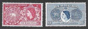 Doyle's_Stamps: MvlH 1953 Bermuda Commems w/QEII Scott  #160* & #161*