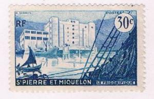 St Pierre and Miquelon 346 MLH Fish freezing plant 1955 (S0968)