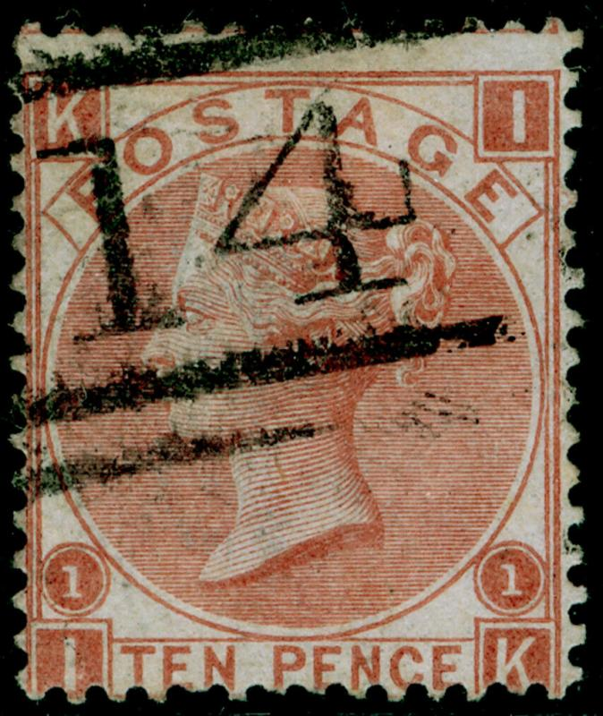 SG113, 10d pale red-brown, FINE USED. Cat £400. IK