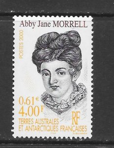 FRENCH SOUTHERN ANTARCTIC TERRITORIES #262 ABBY JANE MORRELL   MNH