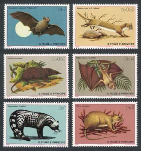 Sao Tome Wild animals Mammals 6v SC#598-603