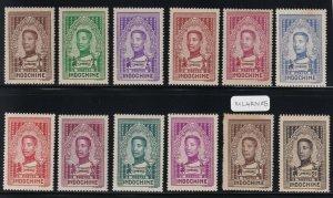 Indochina - 1936 - Sc 182 - 192 - King Sisowath Monivong - Complete Set - MH
