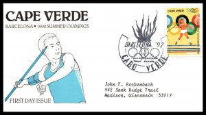 Cape Verde 624 Summer Olympics Typed FDC