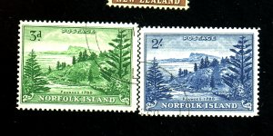 NORFOLK ISLANDS #23-4 USED F-VF Cat $18