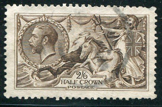 Great Britain #173  used VF  22mm verified