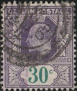 Ceylon,#174  Used, From 1903-05