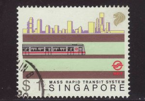 1988 Singapore $1 Mass Transit System Fine Used SG574