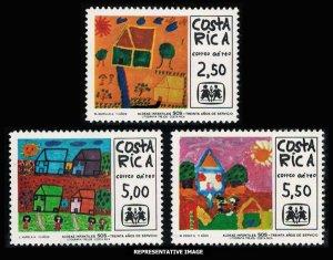 Costa Rica Scott 765-767 Mint never hinged.