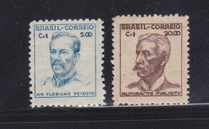 Brazil 667, 669 MH Famous People