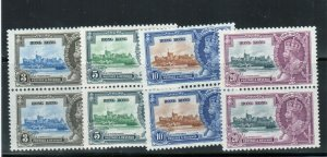 Hong Kong #147 - #150 Very Fine Never Hinged Set In Pairs