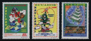 Ecuador 1446-8 MNH Christmas, Children's Art