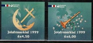 Faroe Islands Scott 368b-9b Mint NH booklets (Catalog Value $21.00)