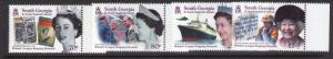 South Georgia Britain's longest Reining Monarch  09-0915 marginal MNH