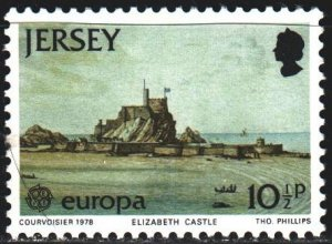 Jersey. 1978. 179 from the series. Castle, europe-sept. MNH.