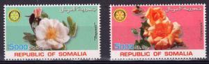Somalia 2002 Roses/Rotary Club International Set (2) Perforated MNH