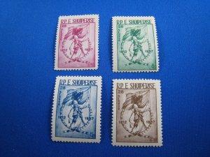 ALBANIA 1954 - SCOTT # 519-522  MNH