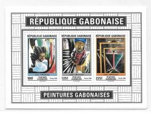 Gabon 1996 Contemporary Paintings S/S Sc 836a MNH B39