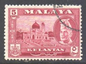 Malaya Kelantan Scott 75 - SG86, 1957 Sultan 5c used