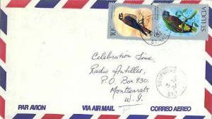 Saint Lucia 5c St. Lucia Parrot and 10c American Kestrel 1976 Soufriere, St. ...