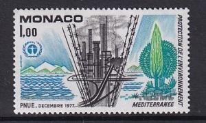 Monaco   #1089     MNH  1977  industrial pollution