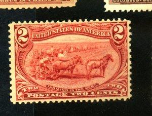 U.S. #286 MINT F-VF OG HR Cat $23