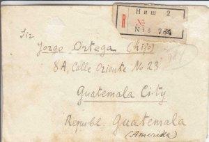 1923, Serbia to Guatemala City, Guatemala, Registered, Morning Cover (24267)