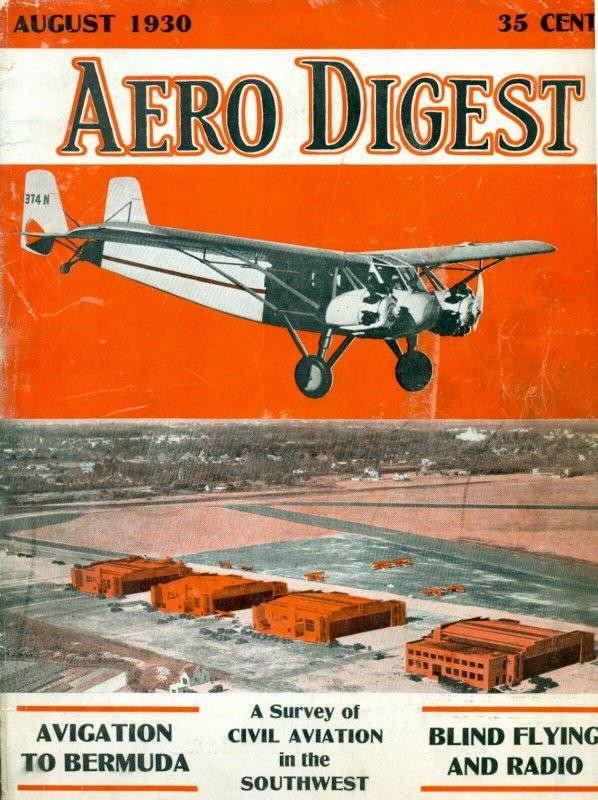 Aero Digest August 1930 Vol. 17 #2